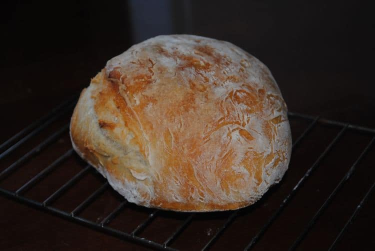 This no-knead artisan bread recipe is adapted from the cookbook,