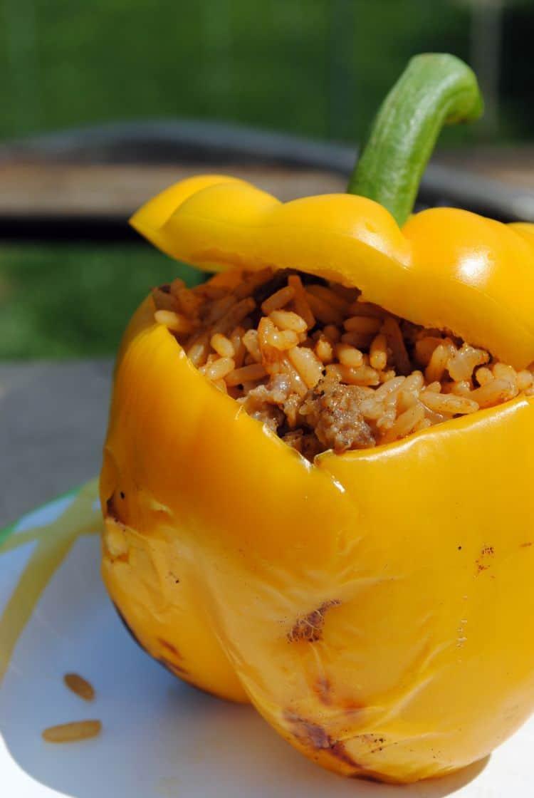 Jambalaya Grilled Stuffed Peppers
