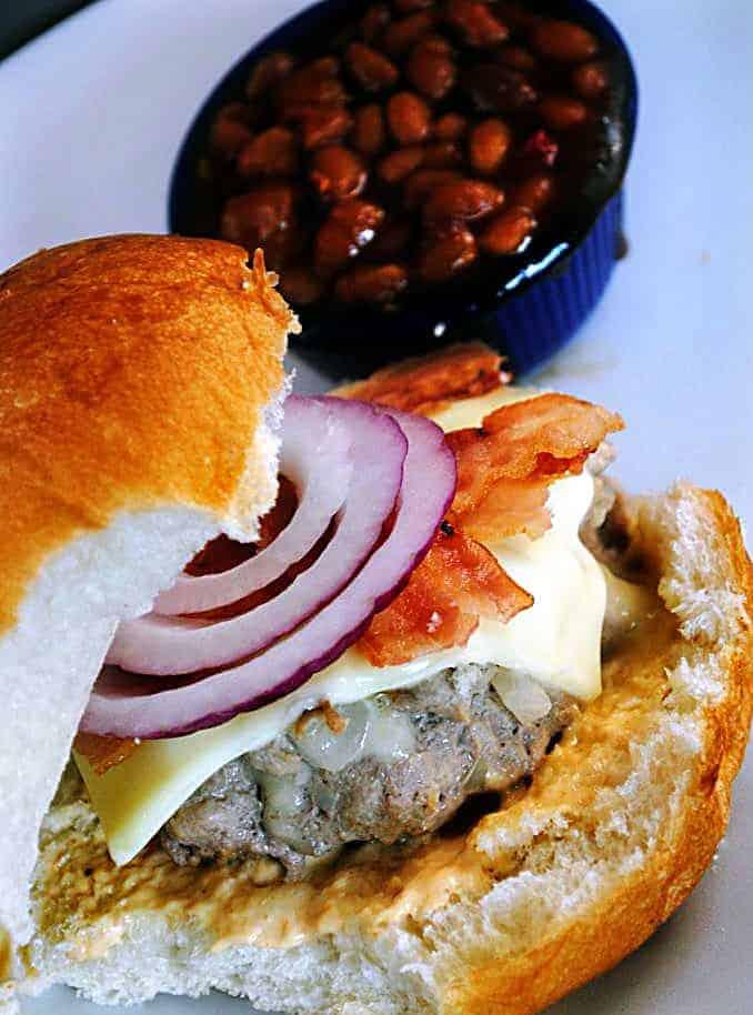 Stuffed Turkey Burgers - Pass The Sushi