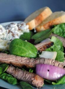 Steak Salad with Sour Cream Potatoes \\ Get the recipe on PassTheSushi.com
