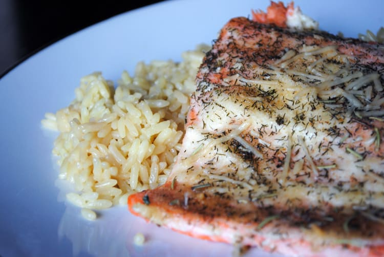 Baked Salmon with Fresh Herbs