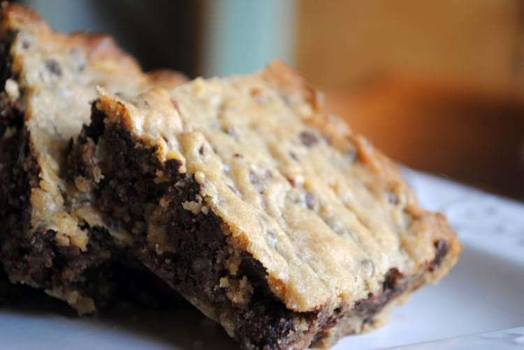 Brewer's Blondies - a cross between traditional walnut blondies and malted milk cookies! Get the recipe from passthesushi.com