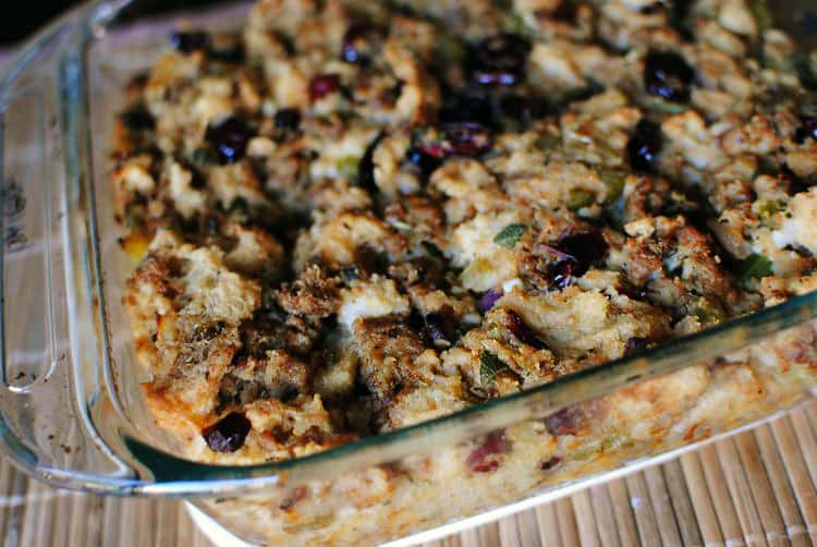 Sausage Cornbread Stuffing Recipe \\ PassTheSushi.com