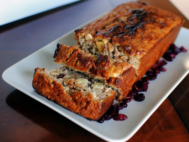 Cranberry-Apple Quick Bread \\ Recipe on PassTheSushi.com