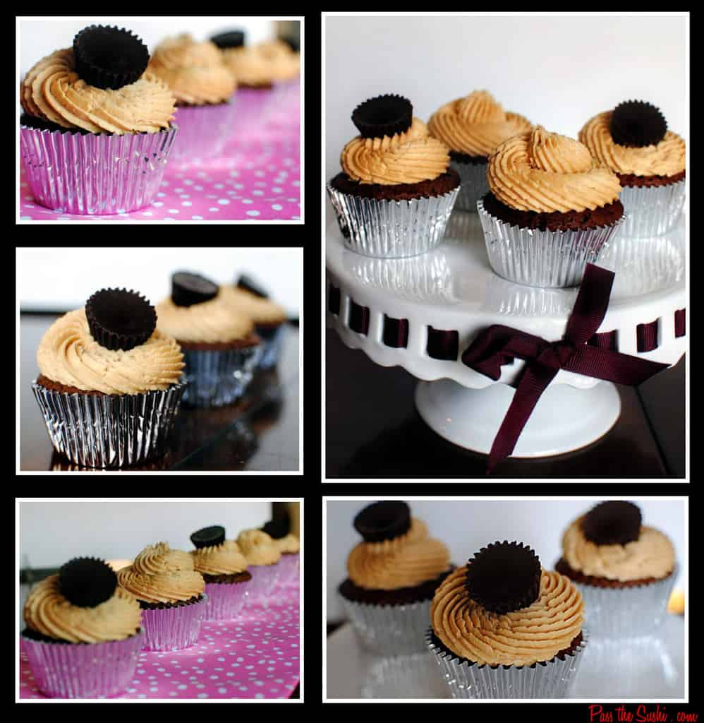 Brownie Cupcakes with Fluffy Peanut Butter Frosting \\ Recipe from ...
