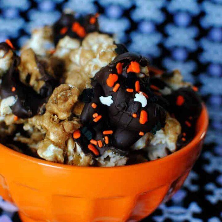 Halloween Toffee Popcorn