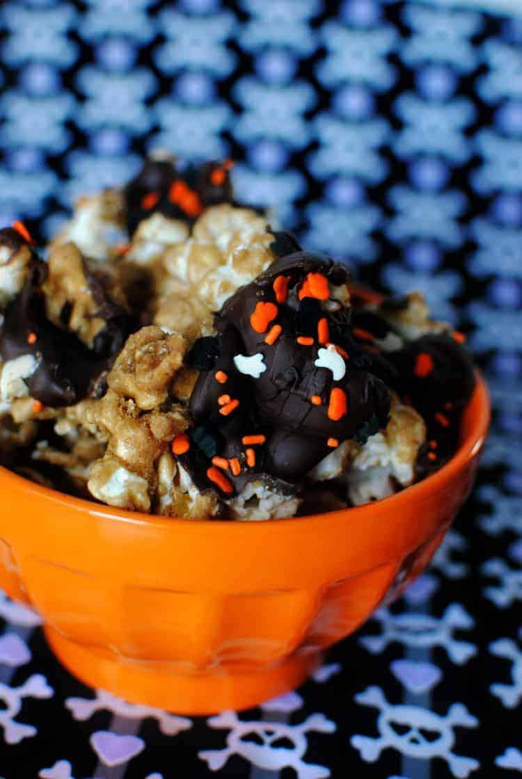 Halloween Toffee Popcorn Recipe \\ PassTheSushi.com