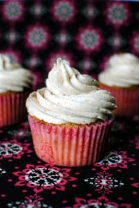 Vanilla chai cupcakes are moist and fluffy, filled with earthy spices like cardamom, ginger, and nutmeg. The vanilla chai buttercream frosting on top will give you seriously sweet dreams!