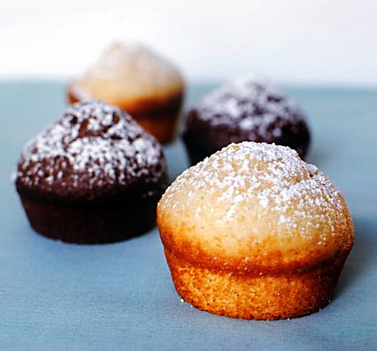 2 Easy Muffins Recipes - Powdered Sugar Donut Muffins and Chocolate Spice Muffins \\ Get them both on PassTheSushi.com