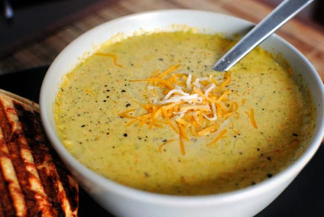 broccoli cheese soup | Kita Roberts PassTheSushi.com