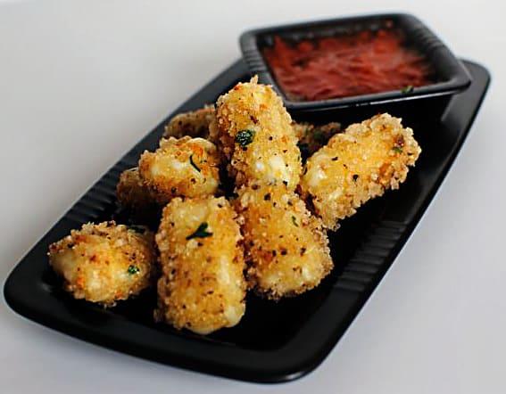 Panko Coated Fried Mozzarella Sticks Recipe \\ PassTheSushi.com