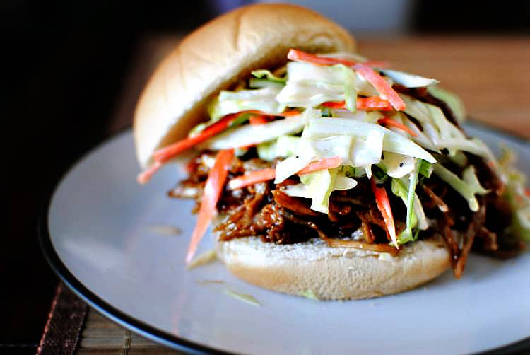 Pulled Pork Sandwich with Fresh Coleslaw