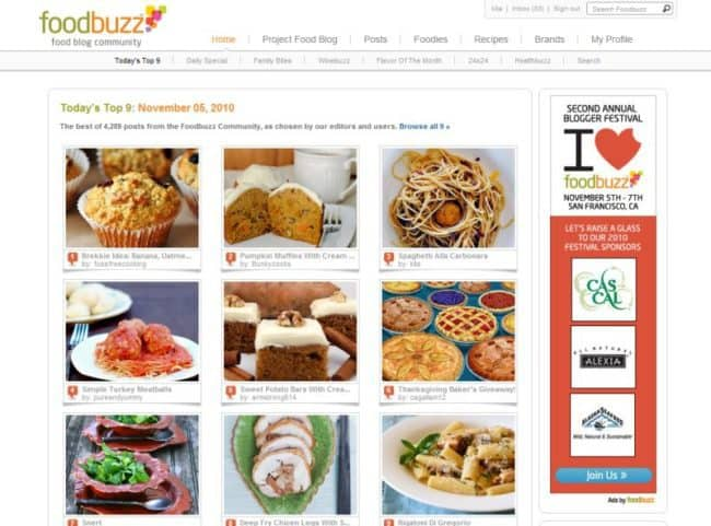 FoodBuzz Top 9 List