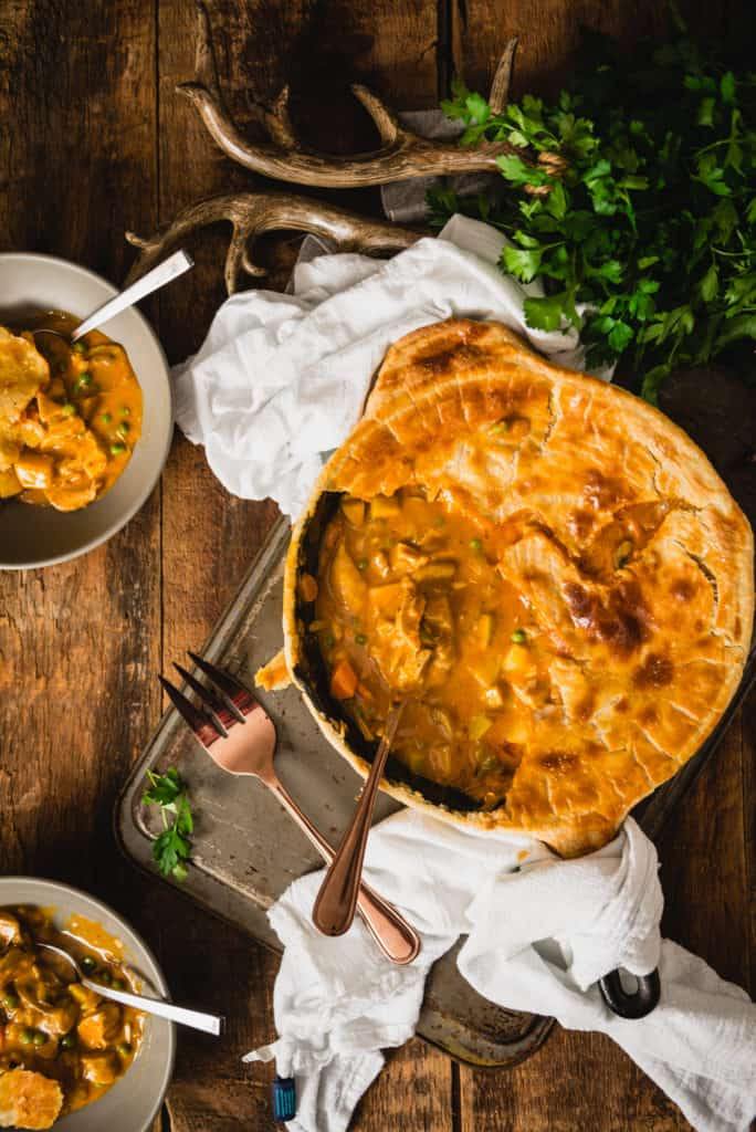 Curried Turkey Pot Pie | Kita Roberts PassTheSushi