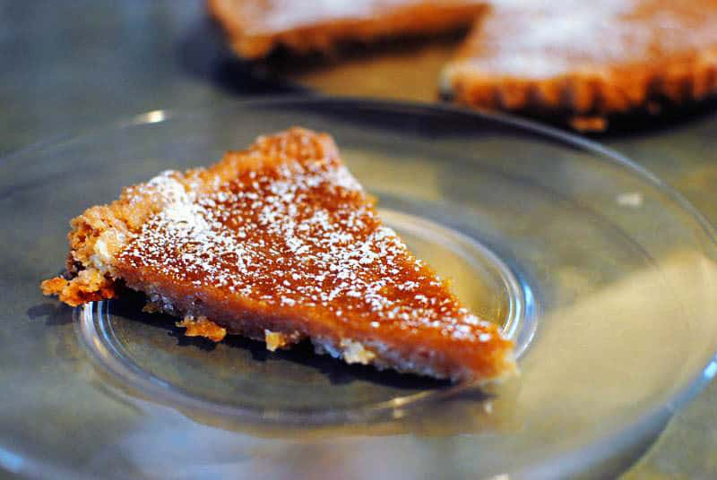 Apple cider and maple cream tart. It's the dessert that sounds like Fall has arrived and tastes like it, too. It's made with fresh apple cider and real maple sugar. Grab your fork! \\ Get the recipe from PassTheSushi.com
