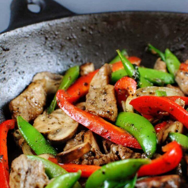 Black Pepper Pork Stir Fry Recipe \\ PassTheSushi.com
