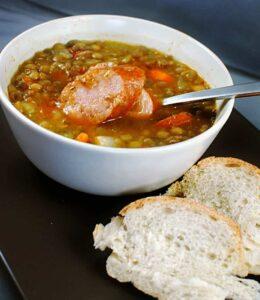 Sausage Lentil Soup Recipe \\ PassTheSushi.com