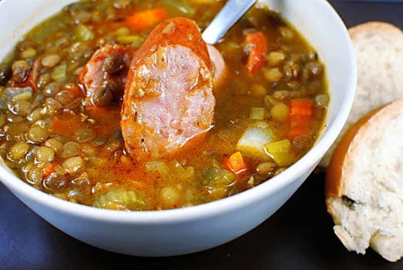 lentil soup sausage