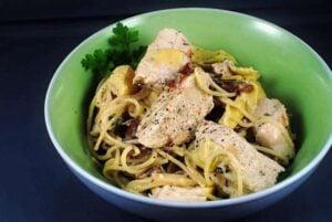 Artichoke Chicken Pasta Recipe \\ PassTheSushi.com