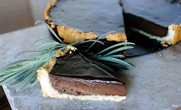 Bittersweet Chocolate Tart Recipe \\ PassTheSushi.com
