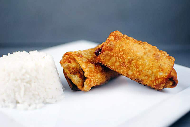 Hoisin Pork Egg Rolls with Asian Slaw \\ Recipe on PassTheSushi.com