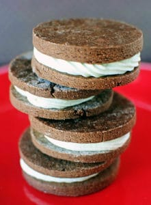 Chocolate Mint Sandwich Cookies \\ Recipe from PassTheSushi.com