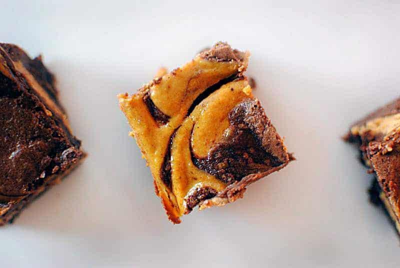 Pumpkin Cheesecake Brownies \\ Recipe on PassTheSushi.com