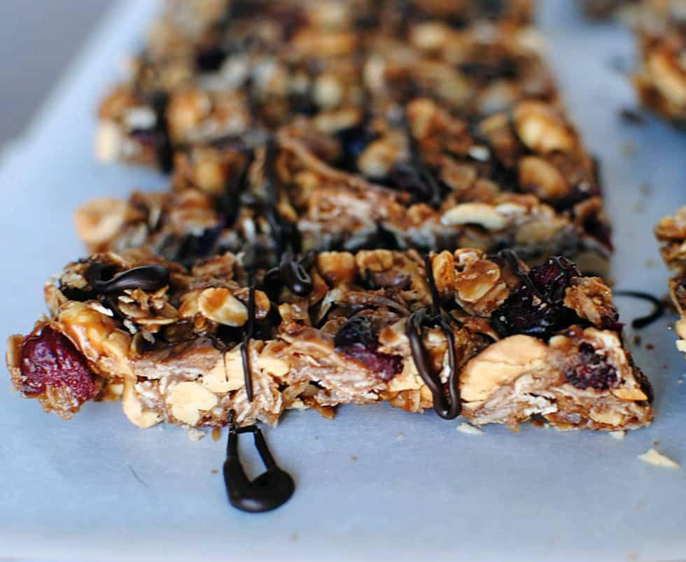 Nutella Peanut Butter Granola Bars Recipe \\ PassTheSushi.com