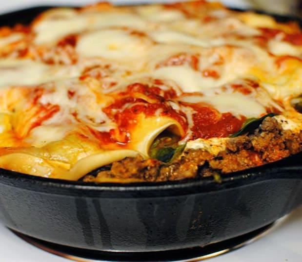 Meaty Skillet Lasagna Recipe \\ PassTheSushi.com