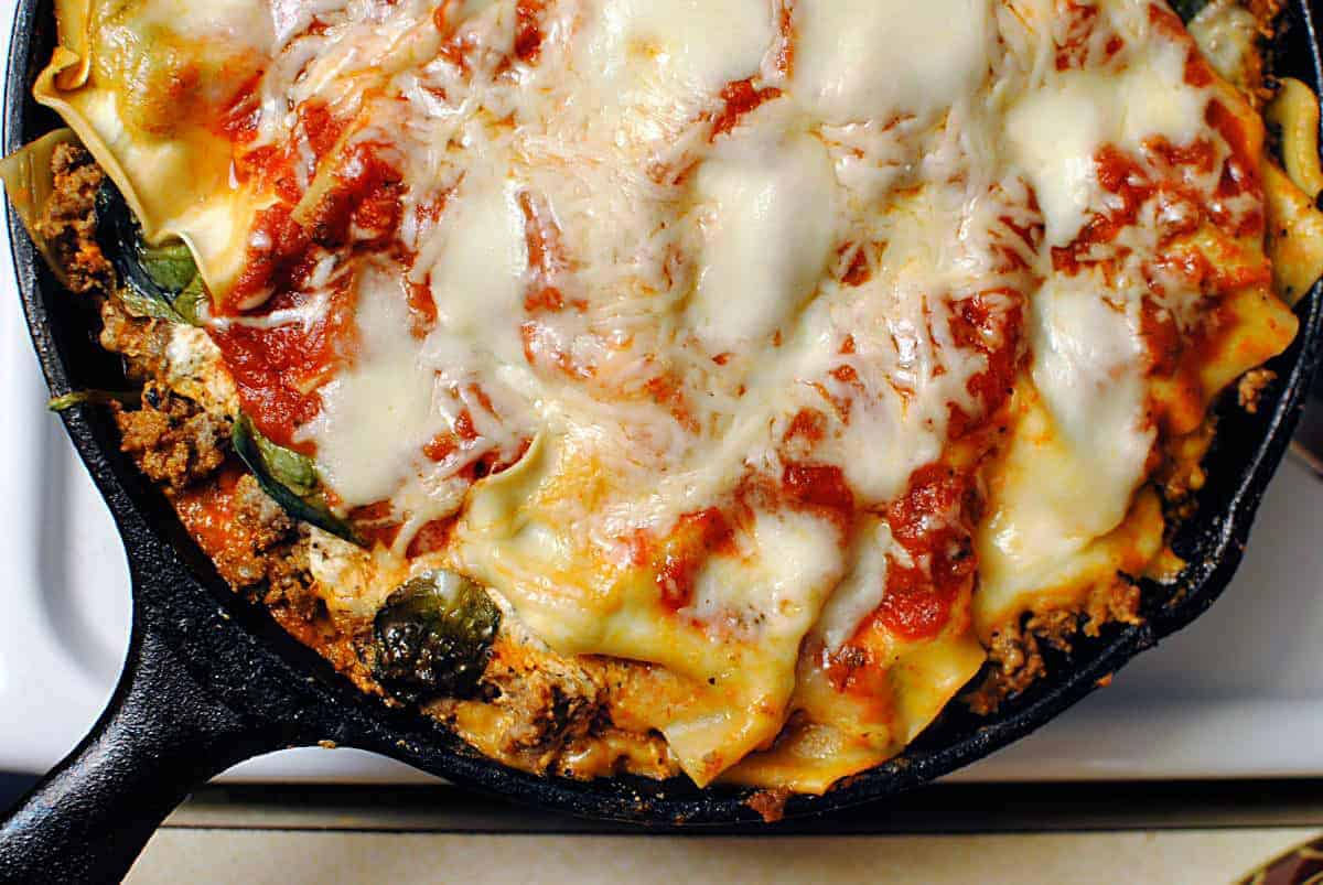 Skillet lasagna quick dinner fixins pass the sushi for Quick and delicious dinner recipes