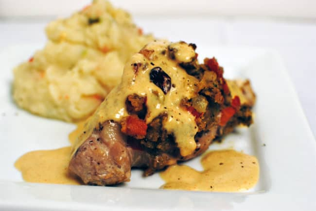 Stuffed Pork Tenderloin Diablo Recipe \\ PassTheSushi.com