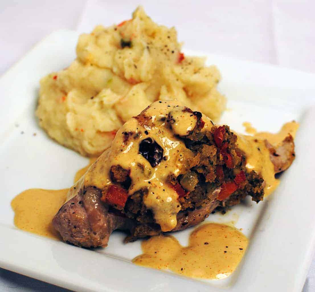 Stuffed Pork Tenderloin Diablo Recipe \\ PassTheSushi.com