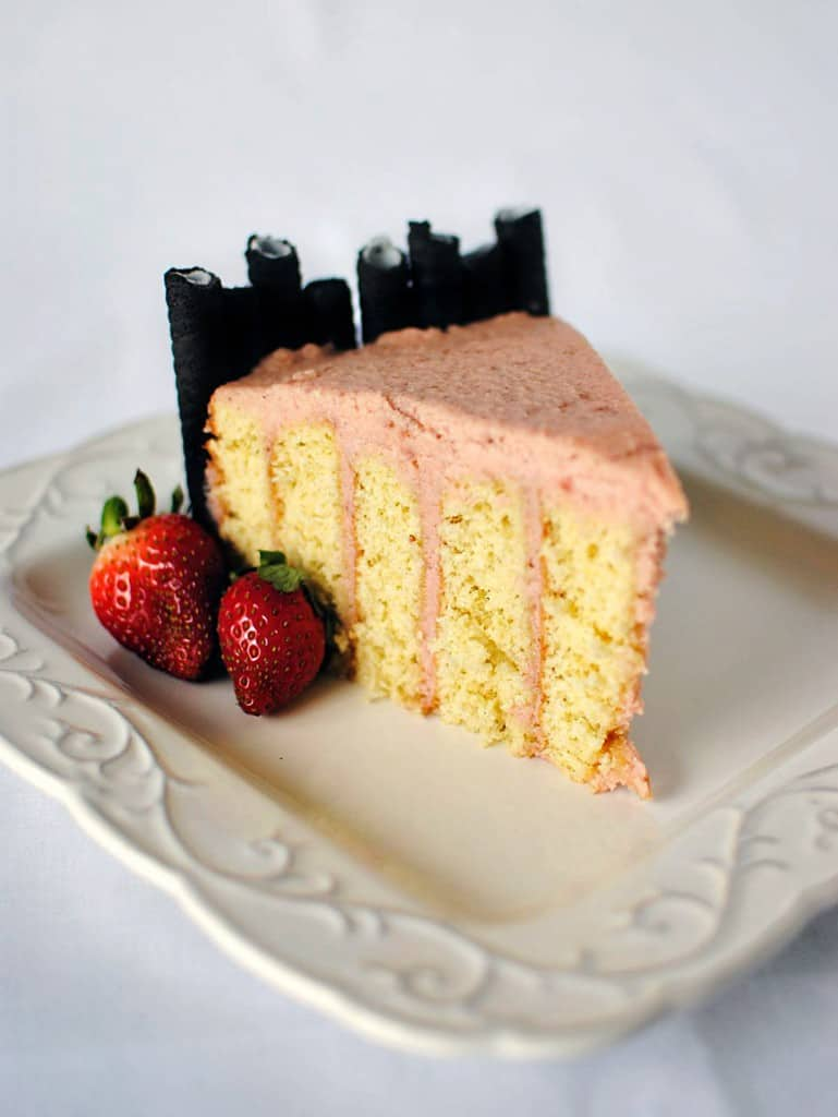 Strawberry Layer Cake Recipe \\ PassTheSushi.com