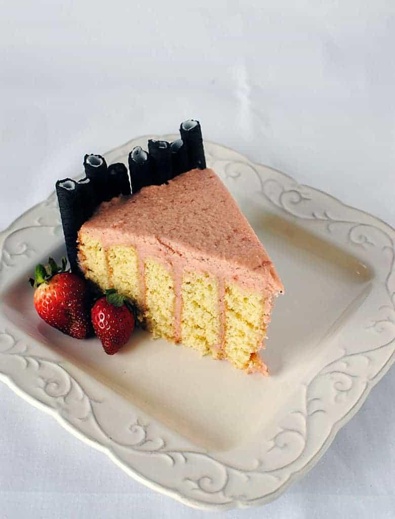 Strawberry Layer Cake Recipe \\ PassTheSushi.com