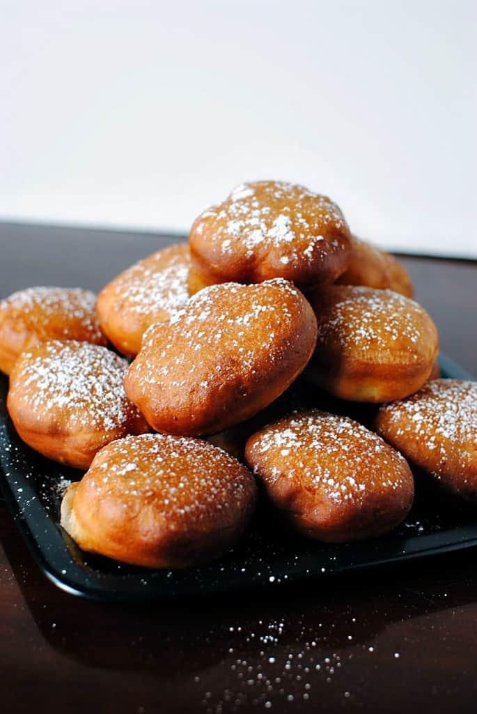 Doughnut Holes with Almond Caramel Sauce \\ Recipe on PassTheSushi.com