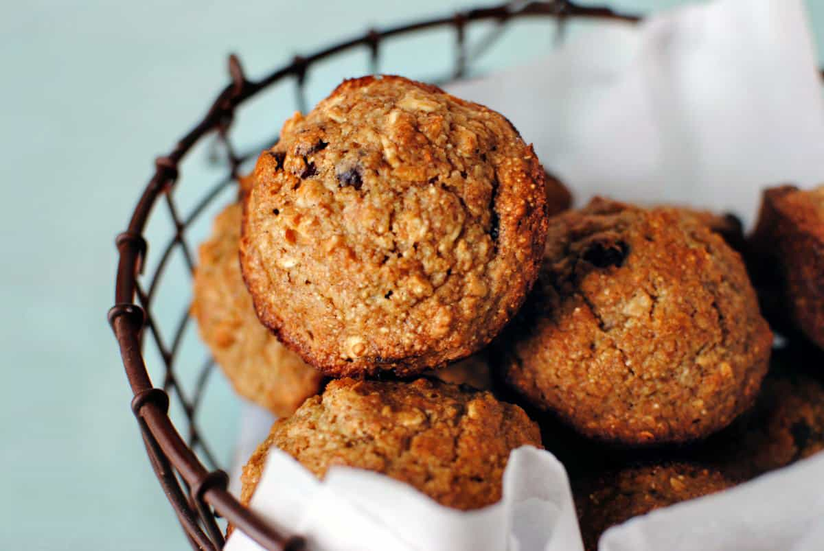 Applesauce oatmeal muffins are a moist, healthy treat that functions ...