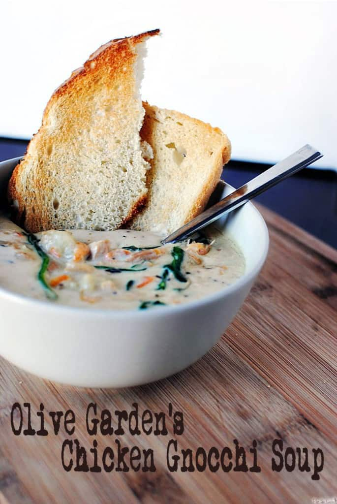 Slow Cooker Copy Cat Olive Garden Chicken Gnocchi Soup {Pass the Sushi}