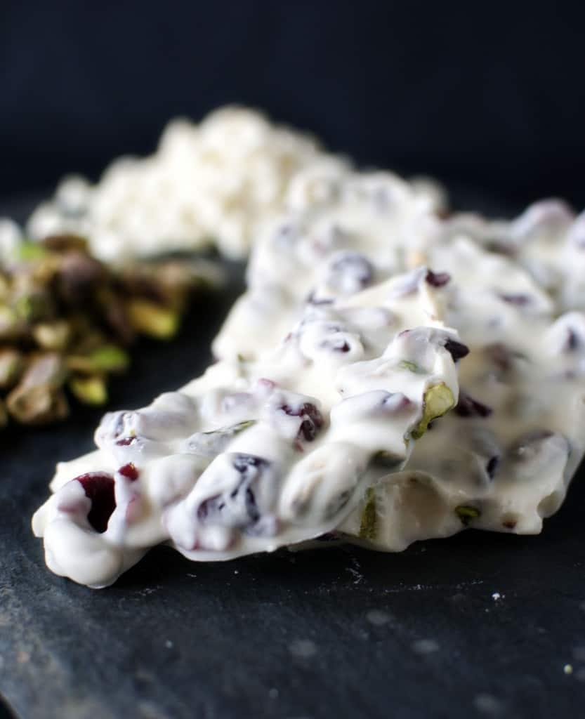 Homemade White Chocolate Bark \\ Get the recipe on PassTheSushi.com