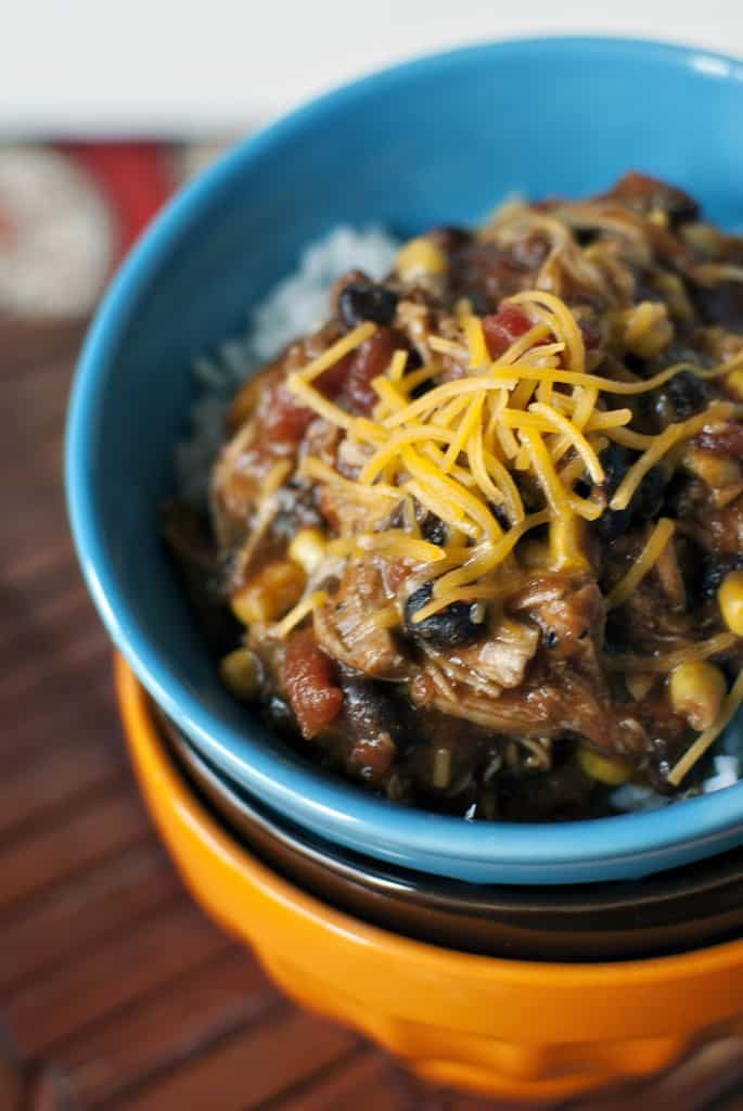Slow Cooker Chicken Taco Chili Recipe \\ PassTheSushi.com