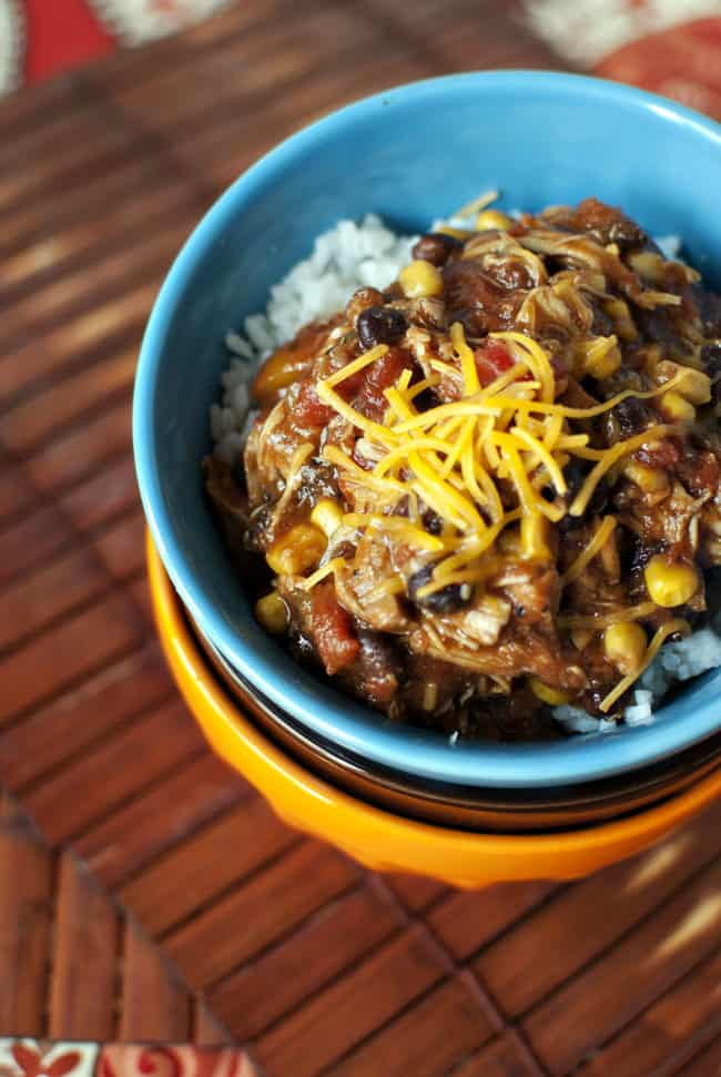 Slow Cooker Chicken Taco Chili Recipe \\ PassTheSushi.com