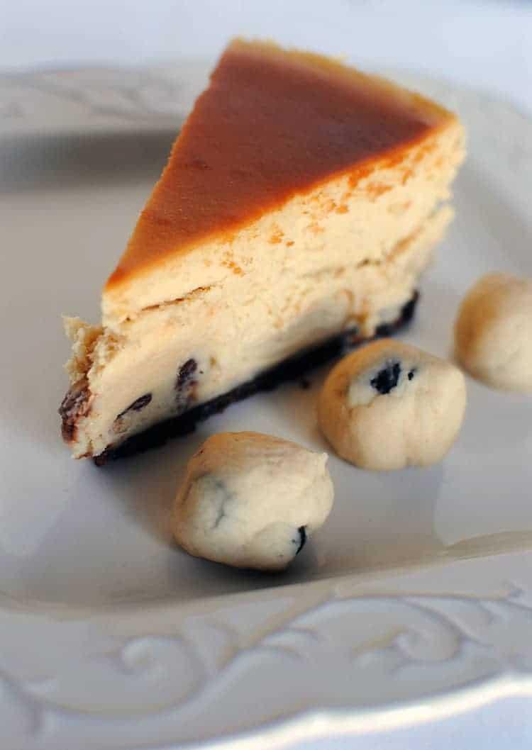Chocolate Chip Cookie Dough Truffles Cheesecake \\ Recipe on PassTheSushi.com