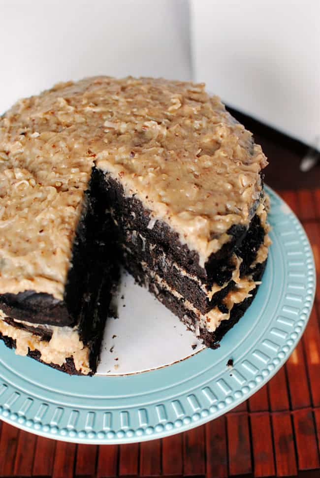 German Chocolate Cake from above \\ Pass the Sushi