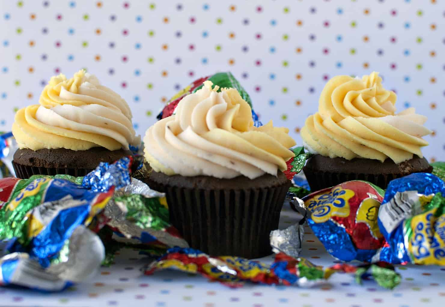 Our Easter Finale, Cadbury Creme Egg Cupcakes