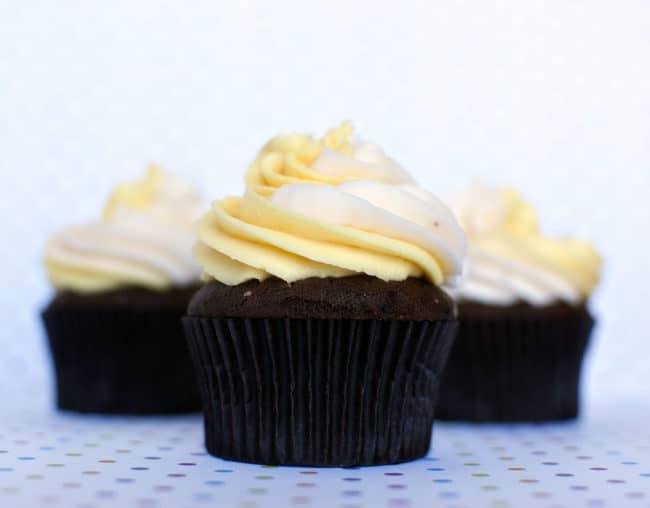Cadbury Creme Egg Cupcakes  Recipe from PassTheSushi.com