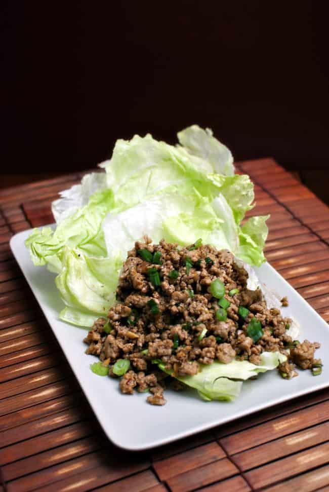 Asian-Spiced Turkey Lettuce Wraps \\ Recipe from PassTheSushi.com