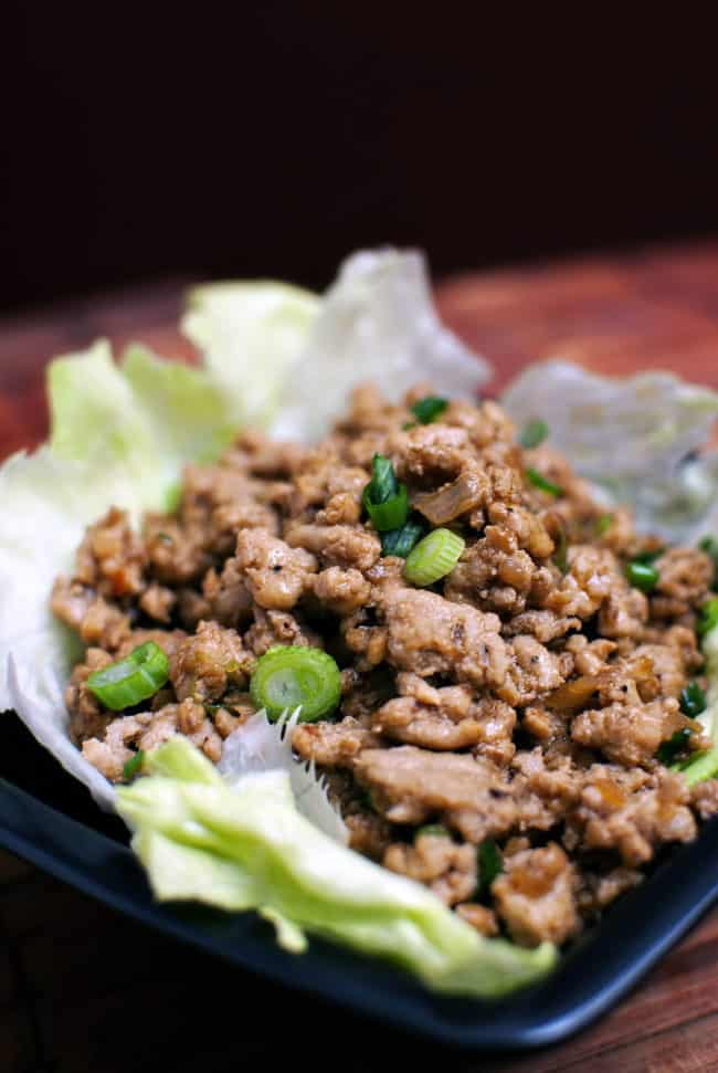 Asian-Spiced Turkey Lettuce Wraps \\ Recipe from PassTheSushi.com