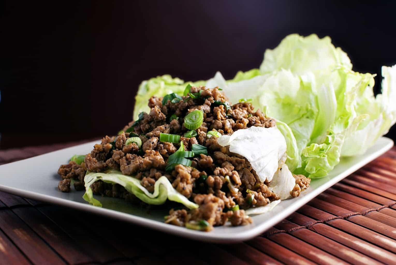 Asian-Spiced Turkey Lettuce Wraps