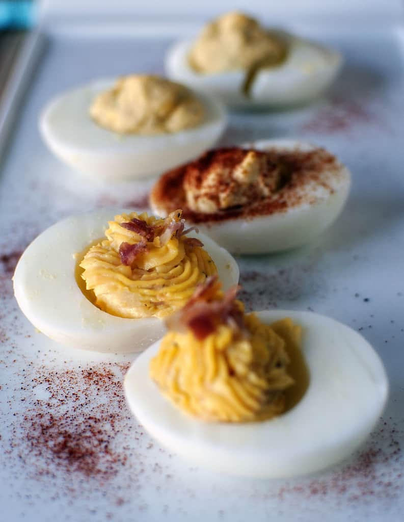 varieties of deviled eggs. Classic deviled eggs, Southern deviled eggs ...