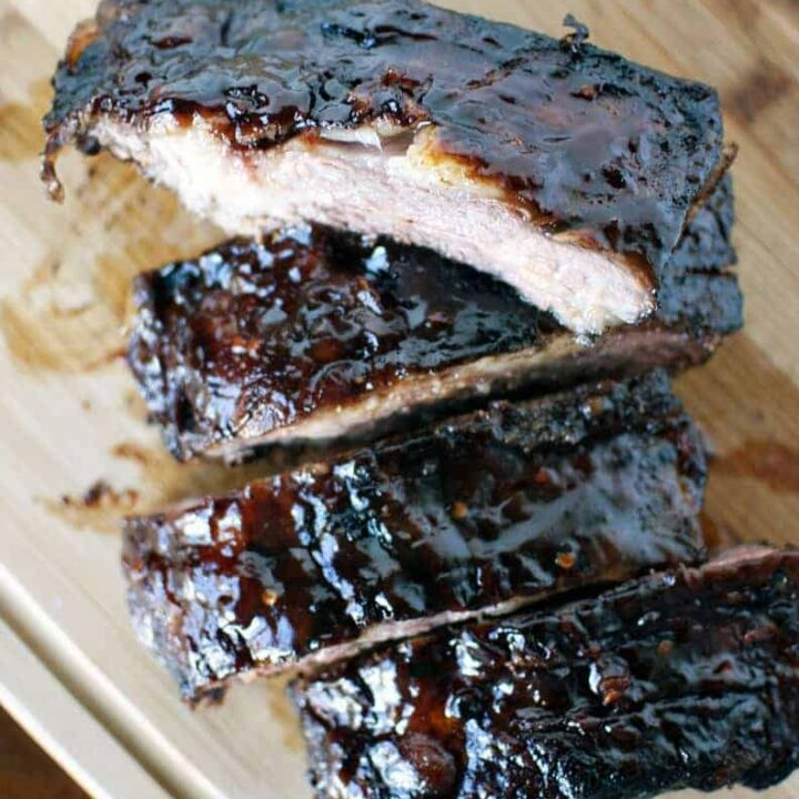 Smoked Beef Ribs with BBQ Sauce
