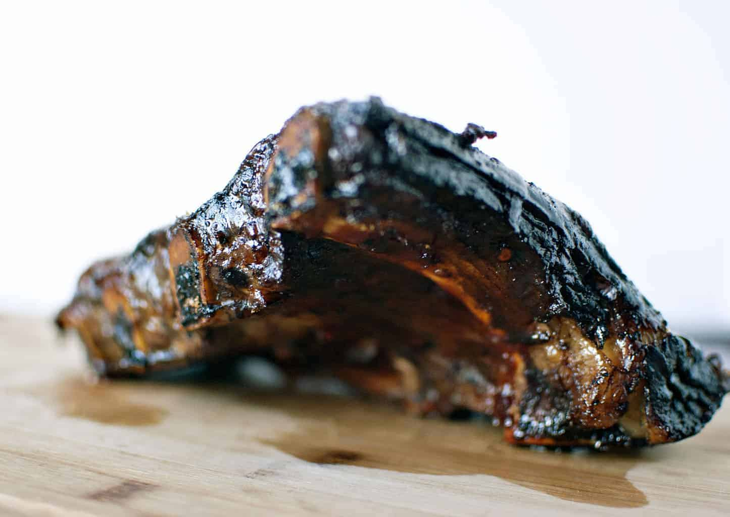 Smoked Beef Ribs with BBQ Sauce - Get the recipe from PassTheSushi.com